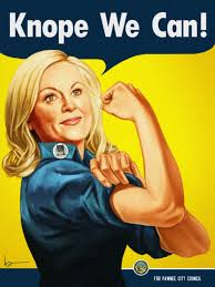 'What would Leslie Knope do?' A worthy role model for my gal. Pic from Pinterest/Vulture.com