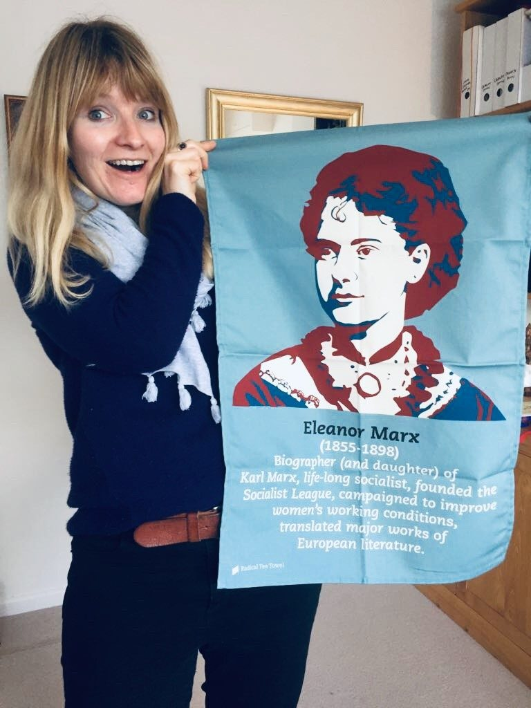 Eleanor Marx tea towel